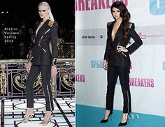 ChaqueJourSonLook -- Selena Gomez In Atelier Versace Spring 2013.  Spring Breakers Germany Premiere