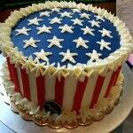 American Cake- Perfect for Memorial Day Weekend or Fourth of July Patriotic Desserts, 4th Of July Desserts, Holiday Cakes, Holiday Treats, Pretty Cakes, Cute Cakes, Fourth Of July Cakes, July 4th, American Flag Cake