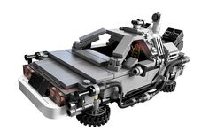 The Delorean car from Back to the Future in its Lego version