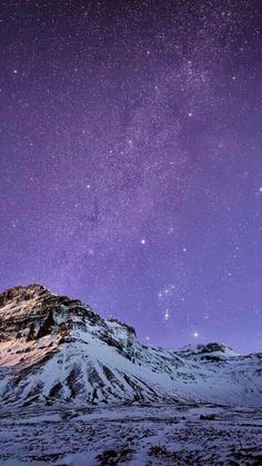 Clear Night Sky Stars Snow Covered Mountains Wallpaper Iphone 6 Wallpaper Backgrounds Hd Iphone 6
