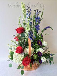 Pretty Basket Arrangement for a Funeral Service