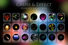 Cause & Effect Sensory Light Box - iPad app for groups with complex needs including visual impairment, autism and developmental disabilities.