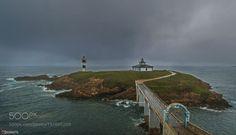 Illa Pancha by AlbertoTorresAlves  Travel Sea Lighthouse Galicia Island Lugo Faro Ribadeo Travel photography Isla Illa Pancha Isla Panc