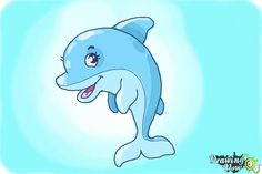 How to Draw a Cute Dolphin - Step 10