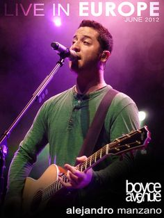 BOYCE AVENUE | alejandro manzano, so handsome and has an amazing voice, I'm definitely in love