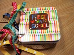 First Day Of School Mini Album Chipboard by HampshireRose on Etsy, $20.00