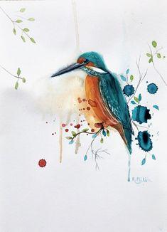 Happy Kingfisher Bird Artists, Kingfisher Bird, Irish Landscape, Irish Art, Watercolour Painting, Watercolours, Lilac Flowers, Selling Art, Red Poppies
