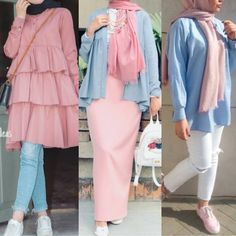 Hijab Collection guide – Just Trendy Girls Stylish Hijab, Casual Hijab Outfit, Hijab Chic, Street Hijab Fashion, Abaya Fashion, Muslim Fashion, Modesty Fashion, Fashion Outfits, Sporty Fashion