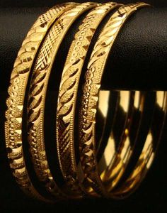 indian gold bangles set of 6 - Google Search
