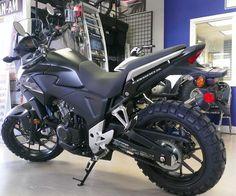 Honda CB500X with knobblies