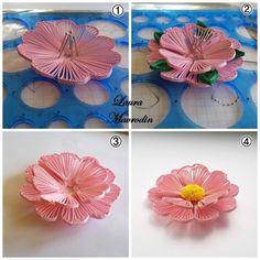 Lovely idea on flower layering!