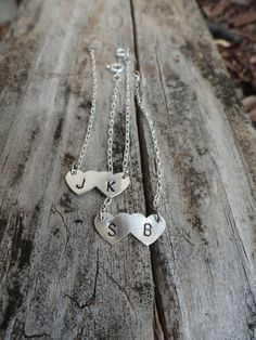 Silver Heart Couples Bracelet by TheSilverJewelryBox on Etsy, $24.00