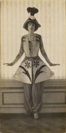 Mrs. Gertrude Vanderbilt Whitney, in a costume by Leon Bakst. Daughter of Gilded Age NYC couple, Mr. and Mrs. (Alice), Cornelius Vanderbilt 11