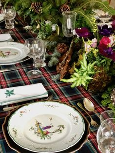From my table to yours, wishing you all a merry merry Christmas! Christmas Table Settings, Holiday Tables, Christmas Tables, Woodland Theme, Tree Lighting, Christmas Design, Xmas Decorations, Place Settings, Merry Christmas