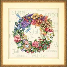 Dimensions Cross Stitch Patterns Free | Wreath of All Seasons by Dimensions - Cross Stitch Kits & Patterns