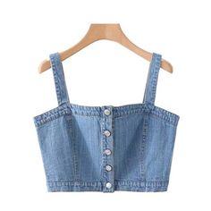 Fashion Sewing, Denim Fashion, Look Fashion, Lolita Fashion, Denim Crop Top, Denim Blouse, Denim Decor, Diy Vetement, Teen Fashion Outfits