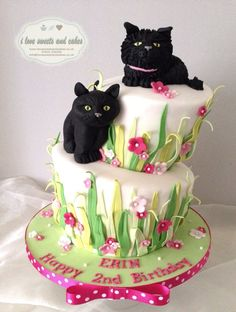Cute Cats - by ilovesweetsandcakes @ CakesDecor.com - cake decorating website