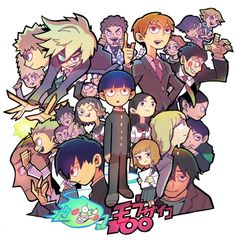 #Mobpsycho100 animé #Manga de one (auteur de One Punch Man) dessin de bitz_rainbow