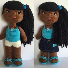 Black crochet doll