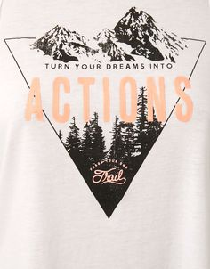 Bershka Sport braided T-shirt print 'Actions' - Sport Start Moving - Bershka United Kingdom