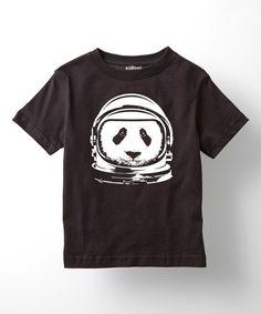 Love this Black Astronaut Panda Tee - Toddler & Boys by LC Trendz on #zulily! #zulilyfinds