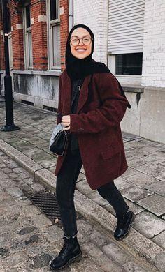 Modest Fashion Hijab, Street Hijab Fashion, Modesty Fashion, Hijab Fashion Inspiration, Mode Inspiration, Moda Hijab, Hijab Fashionista, Muslim Women Fashion, Vetement Fashion
