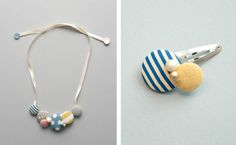 kid´s accessoiries made from fabric covered buttons