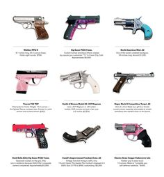 More lunacy from America! As more states allow citizens to carry concealed weapons, manufacturers and customizers are making guns that are flashier, more feminine and easier to pop into a handbag. Rifles, By Any Means Necessary, Trigger Finger, Cool Guns, Awesome Guns, Guns And Ammo, Way Of Life, Girls Be Like, Swagg