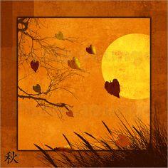 Poster: Serie Vier Jahreszeiten: Herbst - Romantic Wall Art by Mausopardia - Romantische Wandbilder von Mausopardia bei Posterlounge!