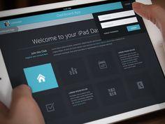Dribbble - Flat iPad Tablet App & Dashboard - Home Screen by Joel Ferrell