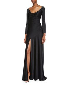 Casino+Royal+Redux+Lace-Back+Gown,+Black+by+Jenny+Packham+at+Neiman+Marcus.