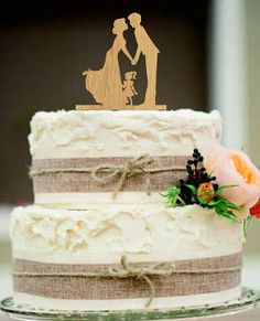 silhouette cake topper with child