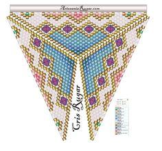 """""""A"""" de alambre plano.                     Patrón de un escote de la talla 42 L, para diseñar gargantillas   ..............................."""