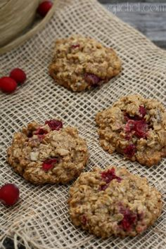 Cranberry Maple Oatmeal Cookies