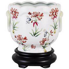 Lily Porcelain Cachepot - #V2653 | Lamps Plus