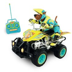 This NKOK Scooby Doo RC ATV Rider includes forward, reverse, left and right remote control functions. This remote control car based on The Scooby Doo series includes batteries and an instructional man