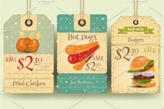 Fast Food Tags Price by elfivetrov on @creativemarket