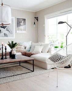 Having small living room can be one of all your problem about decoration home. To solve that, you will create the illusion of a larger space and painting your small living room with bright colors c… Living Room Stands, Stairs In Living Room, Home Living Room, Apartment Living, Living Room Decor, Living Spaces, Apartment Layout, Cozy Apartment, Minimal Apartment