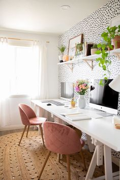 Route 66 Kitchen Decor Spotty Home Office Makeover Mary Lauren.Route 66 Kitchen Decor Spotty Home Office Makeover Mary Lauren Cozy Home Office, Home Office Setup, Home Office Organization, Home Office Space, Office Inspo, At Home Office Ideas, Office Spaces, Chic Office Decor, Gold Office