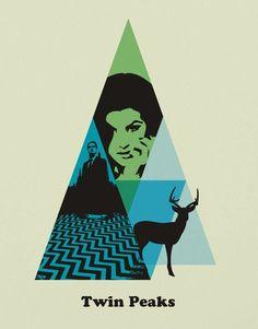 Twin Peaks (1990-1991) ~ Minimal TV Series Poster by SanaSini #amusementphile