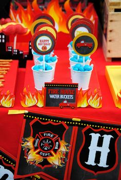 FIREMAN Birthday - FLAMES - Fire Fighter Party - Fire