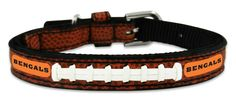 Cincinnati Bengals Classic Leather Toy Football Collar