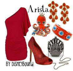 Arista looks like a badass here! Ariel's sister, Arista, represented through fashion by Disneybound.