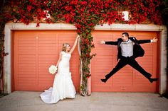 Animated Wedding couple during their Bridal Portraits. A fun moment to catch!