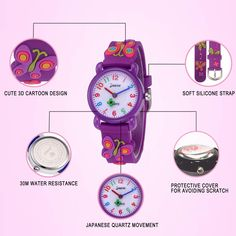 30bec854252 Idealin Kid Watch Waterproof Cartoon Silicone with Gift Case for Children    Find out more about the great product at the image link. Fashion Watches