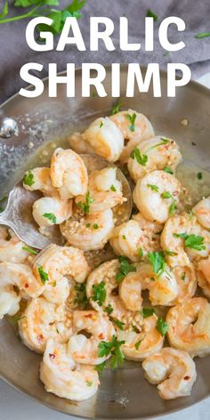 What's for dinner tonight? How about serving your family this easy garlic shrimp recipe? This simple recipe can be made in minutes and it is absolutely delicious!