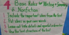 4 Basic Rules for Writing a Summary of Nonfiction
