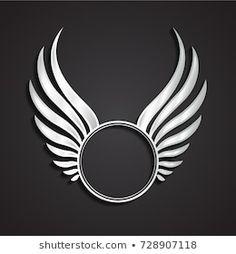 Circle Logo Design, Circle Logos, Dots Design, Broken Heart Wallpaper, Royal Logo, Shiva Tattoo, Circle Labels, Elegant Logo, Silver Wings