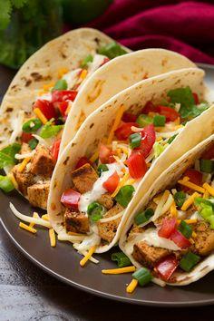 Grilled Chicken Tacos with Cilantro Lime RanchReally nice  Mein Blog: Alles rund um die Themen Genuss & Geschmack  Kochen Backen Braten Vorspeisen Hauptgerichte und Desserts # Hashtag