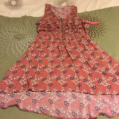 Women's Xhiliration dress size XL Women's Ruffle dress... Never worn... Tags attached Xhilaration Dresses Midi